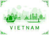 Vietnam Travel Landmarks.