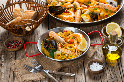 Canvastavla Paella spanish food