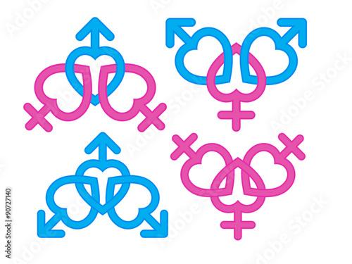 Gender Symbol Male And Female Symbols Combination Buy Photos