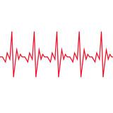 Heart beat cardiogram icon