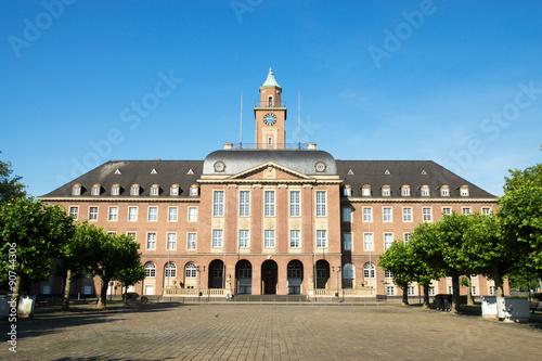 Leinwanddruck Bild Rathaus in Herne, NRW, Deutschland