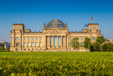 Fototapety Reichstag building at sunset, Berlin, Germany