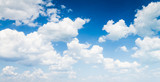 Fototapeta Na sufit - blue sky with cloud closeup © klagyivik