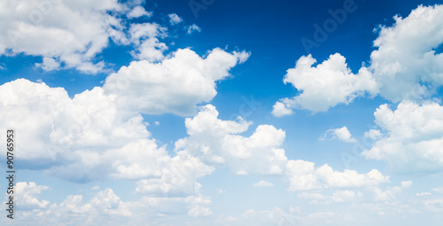 blue sky with cloud closeup - 90765953