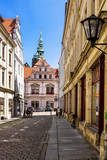 Fototapety Ein liebenswertes Gässchen in Pirna