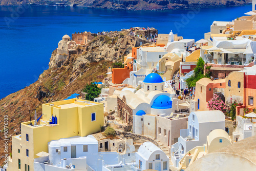 Foto op Canvas Beautiful city of Oia on Santorini island. Santorini is one of the most popular tourist destinations in Greece.