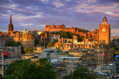 Foto op Canvas Lavendel Edinburgh Castle, Scotland