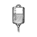 Sketch of blood bag for transfusion