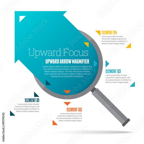 Upward Arrow Magnifier Infographic