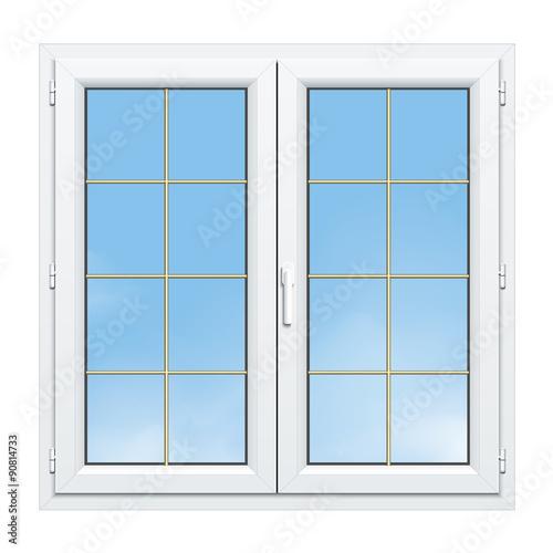 Fen tre pvc 2 vantaux avec croisillons laiton fichier for Fenetre 3d windows 7