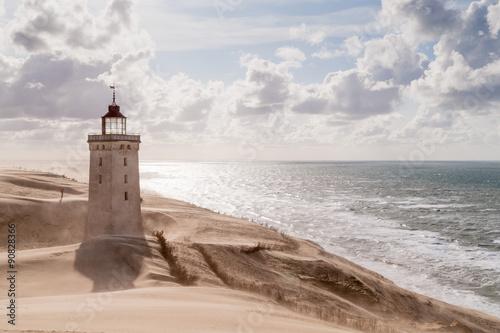 Poster Sandstorm at the lighthouse