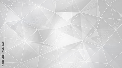 abstract white triangles and lines background