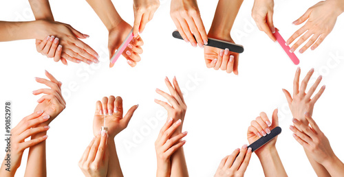 Foto op Plexiglas Manicure Beautiful hands set