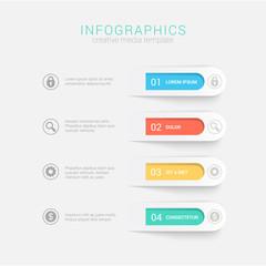 Step blocks infographics mockup template vector background © Sentavio