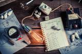 Fototapety Vinateg physics Laboratory in technical electrical