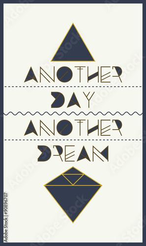 simple geometric motivational poster © vanzyst
