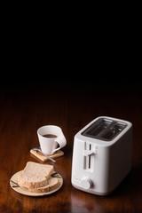 bread toaster coffee