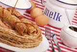 Dutch pancakes with syrup or