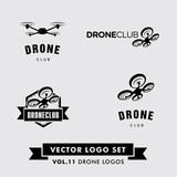 Fototapety Drone Vector Logo Set