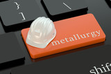 Metallurgy  concept on keyboard button poster