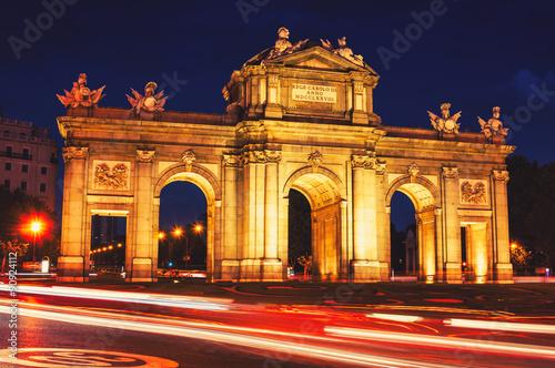 Zdjęcia na płótnie, fototapety, obrazy : The Puerta de Alcala at night in Madrid