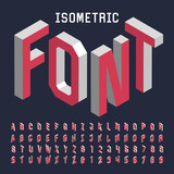 Fototapety 3d isometric alphabet vector font. Isometric letters, numbers and symbols. Three-Dimensional stock vector typography for headlines, posters etc.