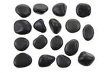 black stones isolated