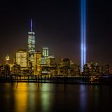 View of New York City from New Jersey - cityscape including the Freedom Tower - 90950171