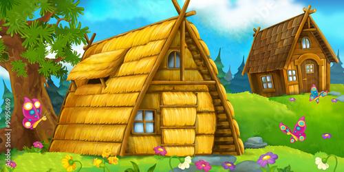 Cartoon scene for fairy tales - illustration for the children - 90950169