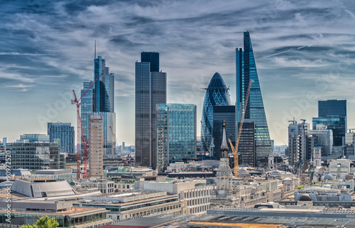 Fototapeta London City. Modern skyline of business district
