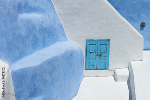 Architecture on the island of Santorini Greece