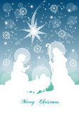 Fototapety Merry Christmas - Nativita' sotto la Neve