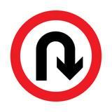Prohibition Sign . U-turn Vector illustrations