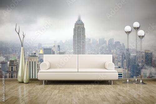 zdjęcie ścienne mural sofa