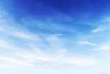 Fototapety Fantastic soft white clouds against blue sky background, soft fo