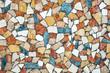 Colorful stone mosaic, background photo texture