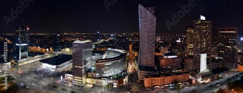 Fototapeta Warsaw by night