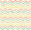 Vector watercolor stripes seamless pattern