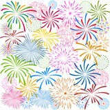 Fototapety Fireworks Display for New year and all celebration vector illustration