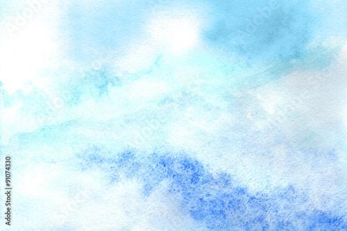 Fototapeta Sky in watercolor