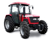 New red tractor isolated on white background - 91090723