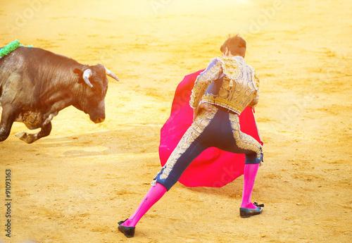 Poster Traditional corrida - bullfighting in Spain