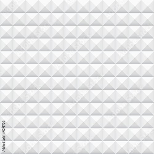 White tiles, squares, vector illustration, seamless pattern - 91095720