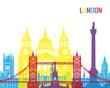 Obrazy na płótnie, fototapety, zdjęcia, fotoobrazy drukowane : London skyline pop