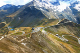 View of the Grossglockner High Alpine Road (Hochalpenstrasse). The windy road with 36 bends that leads to the heart of the Hohe Tauern National Park in Austria