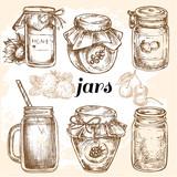 hand drawn jars collection