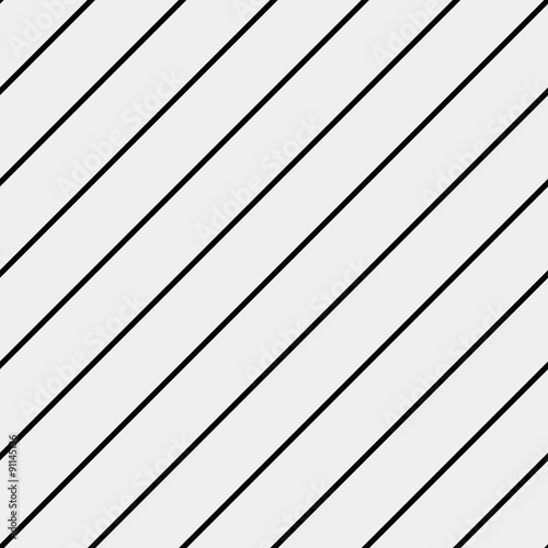 Vector seamless pattern. Modern stylish texture. Repeating geometric tiles with diagonal lines - stock vector - 91145136
