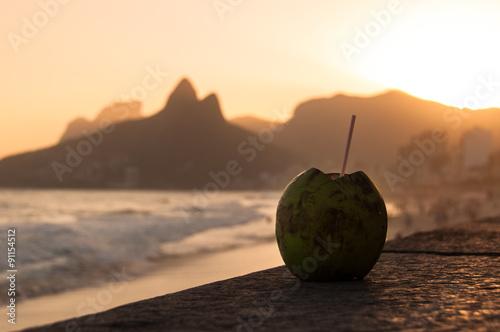 "Coconut Drink in Ipanema Beach in Rio de Janeiro"" Stok Görseller ve ..."