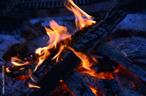 Leinwanddruck Bild Feuer