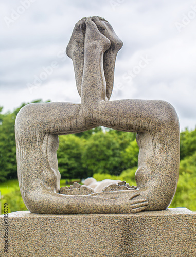 Poster Sculpture in Vigeland park Oslo. Norway.